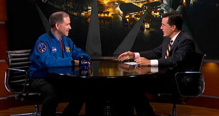 Stephen Colbert offers a tip of the hat to NASA's Mars Rover