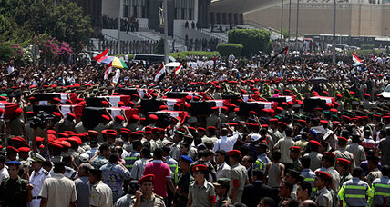 With 16 Egyptian soldiers murdered, Sinai is front and center for President Morsi