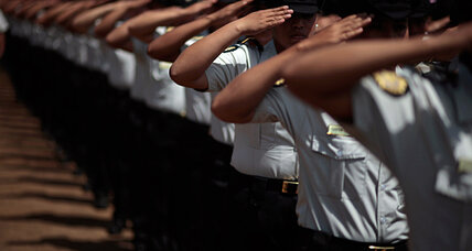 Guatemalan police graduates ready to protect and serve ... without guns.