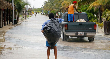 Tropical Storm Ernesto races across Yucatan Peninsula