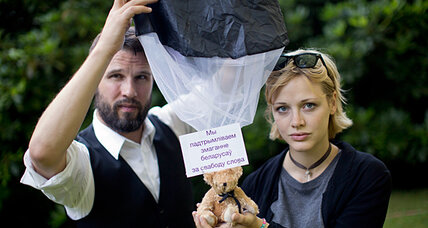 Teddy bear air drop still roils in Belarus
