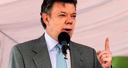 Colombia's Santos sees popularity dip as public worries about security