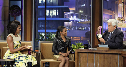 Michelle Obama on Leno show: Why did she tease an Olympian?