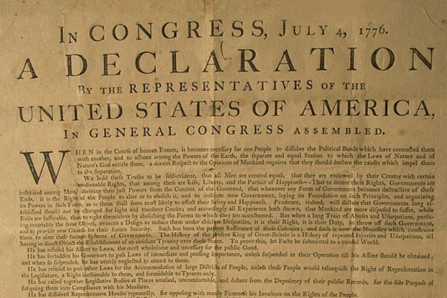 an analysis of the four universal truths in the declaration of independence by thomas jefferson Declaring independence or supporting such a declaration is seen as a hostile act that may easily lead to war drafted by thomas jefferson between june 11 and june 28, 1776, the declaration of what jefferson did was to summarize this philosophy in self-evident truths and set forth a list of.