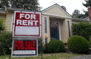 2011 File Photo Shows A House For Rent And For Sale Sign In Front Of A Home  In Portland, Ore. If Youu0027re Thinking About Buying A Home, But May Be Moving  ...