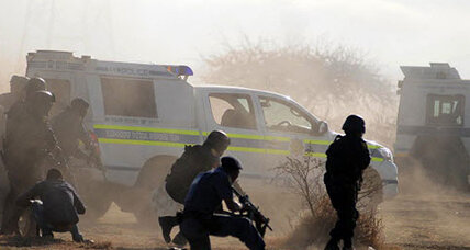 Striking miners killed by police leaves South Africa in shock