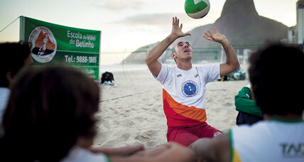 Volleyball for all on a famous Rio beach