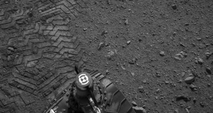 Mars rover tracks spell out Morse code message