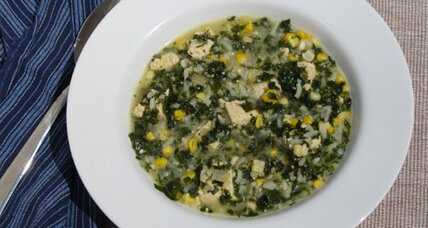 Summer soup with fresh corn