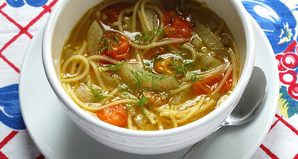 Summer bounty: Tomato fennel soup