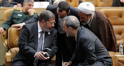 Egypt President Morsi's harsh words for 'oppressive' Syria regime