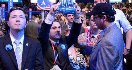Is GOP convention confiscating Ron Paul signs?