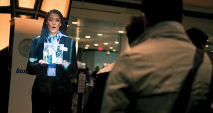 Hologramlike performers hit the stage – and airport, and drugstore