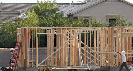 Housing construction falls. But permits, optimism rise.