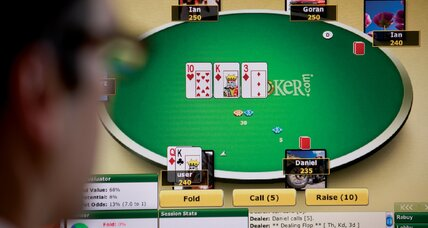 Misdeal on Internet poker gambling