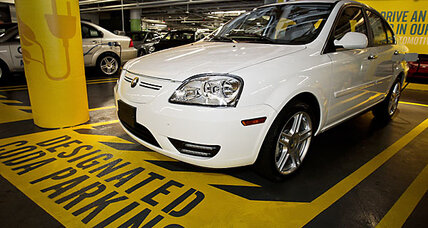 Have you been ICEd? Gas guzzlers park in electric car-charging spots.