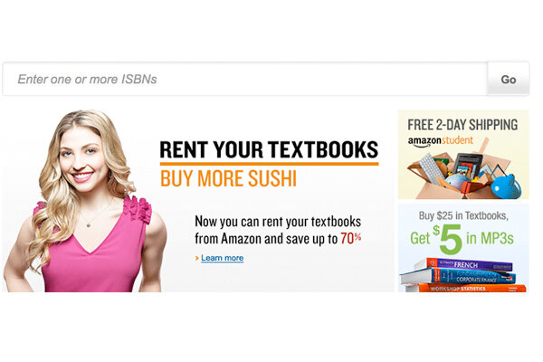 Amazon com  Save up to     on rental  new  used  and digital textbooks Inside Higher Ed