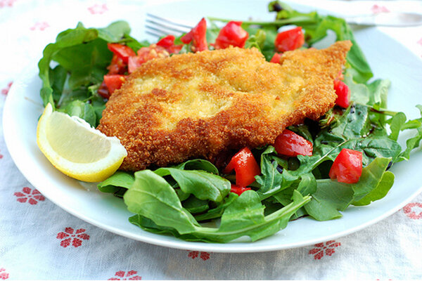 milanese with chicken milanese with arugula baked chicken milanese ...