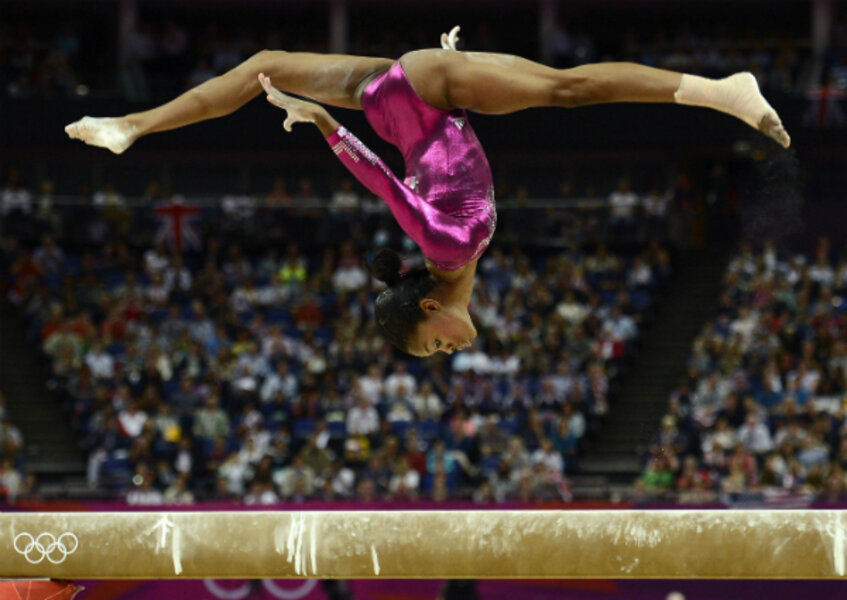 olympian gabby douglas u2013 the gymnast is golden but her family obscured vault gymnastics gabby douglas s21 vault