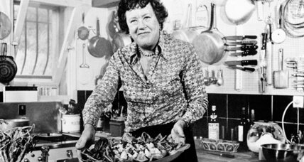 Two birthday cakes for Julia Child