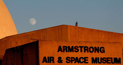 Blue moon: A cosmic wink at Neil Armstrong memorial service