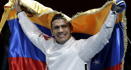 Venezuelan fencer rides wave of Olympic-gold-glory – on public transportation