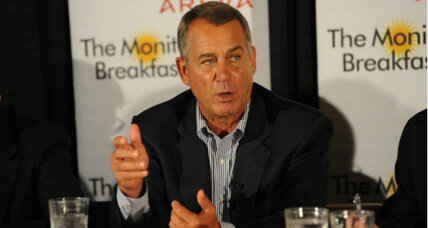 Speaker John Boehner pledges offensive drive for House seats