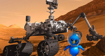 Curiosity rover's Twitter feed displays moxie, gumption