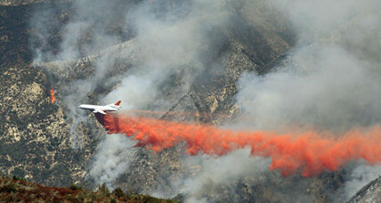 Forest fire outside of Los Angeles cause unknown, may burn for a week (+video)