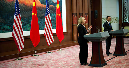 Clinton in China: The US and China 'are still talking'
