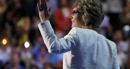 Gabrielle Giffords: Strong, amid cheers