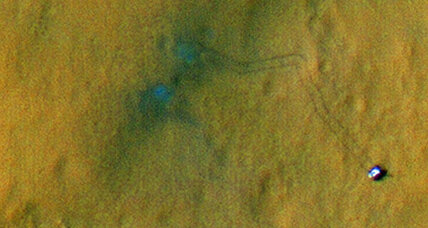 Spectacular photo shows Mars rover tracks from space