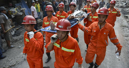 Chinese rescue workers search for survivors in wake of twin quakes