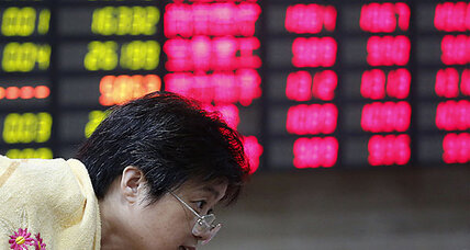 Bad news from China sends stocks sliding