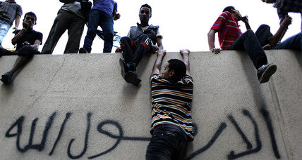 Protesters scale US embassy walls in Cairo over prophet 'insult'