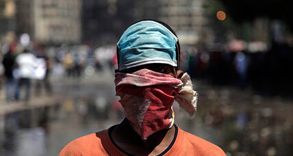 In Cairo, angry yet small protests