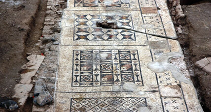 Humongous Roman mosaic found under farmer's field in Turkey