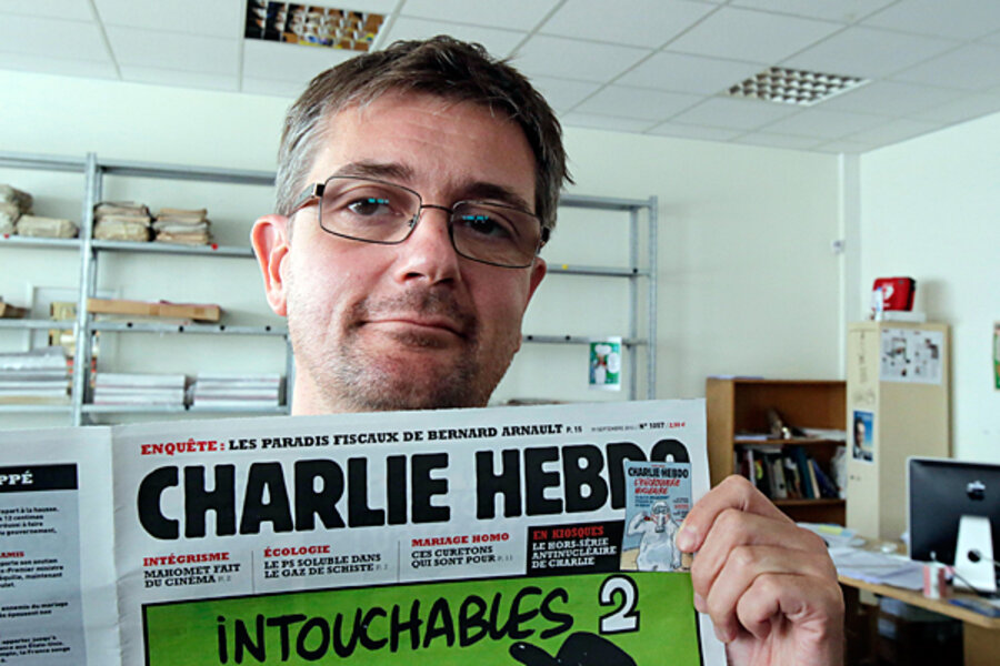Charlie Hebdo S Muhammad Cartoons A Headache For Hollande Csmonitor Com