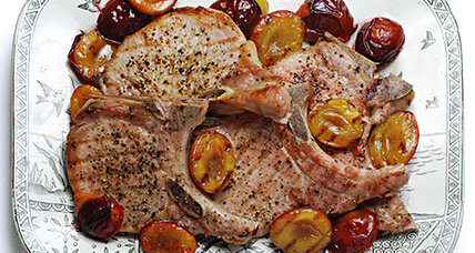 Italian plums pair perfectly with grilled pork chops