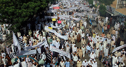 Why did the Pakistani government sanction protests?