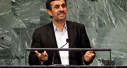 Iran's Ahmadinejad touts 'new world order' not led by 'arrogant' powers