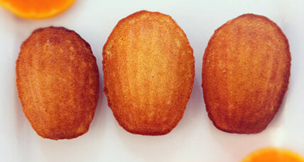 Orange honey madeleines