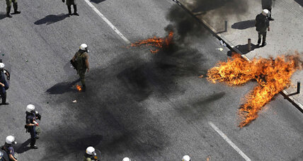 Austerity protests in Greece turn violent