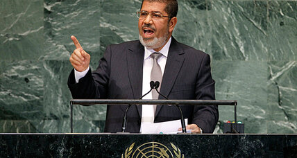 Egypt pursues blasphemy cases as Morsi defends ban at UN
