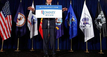 Battleground Virginia: Romney and Obama woo military veterans (+video)
