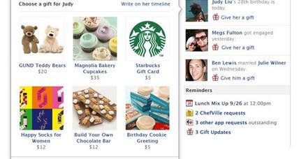 Facebook Gifts: Great for friends, bad for privacy?
