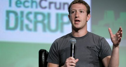 Facebook CEO hints at mobile, search initiatives. Shares rise
