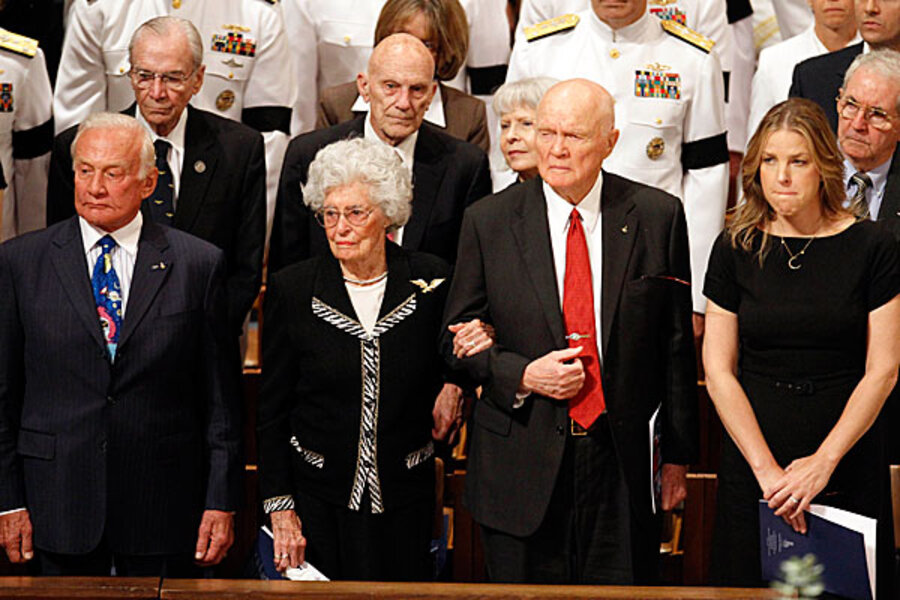 Eugene Cernan Photos Photos - Memorial Service For Neil ... |Neil Armstrong Funeral Service