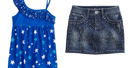Girls' clothing: Glitter mini-skirts and wedges hard to avoid