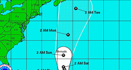 Leslie, now a hurricane, moving toward Bermuda